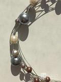 Колье жемчуг бижутерия украшение перламутровый на шею леска на шею мода стиль топ красота 44 46 42 4 Москва