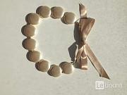 Колье бусы бижутерия украшение перламутровый жемчужный мода стиль на шею бренд тренд 42 44 46 48 40 Москва