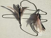 Колье цепочка цепь бижутерия украшение перья чёрные розовые мода стиль бренд тренд 42 44 46 48 40 Москва