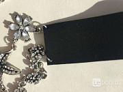 Колье чокер бижутерия украшение стразы сваровски swarovski кристаллы камни белые цветы цепь цепочка Москва