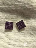 Серьги пусеты бижутерия стразы сваровски swarovski сиреневый фиолетовый кристаллы камни украшение мо Москва