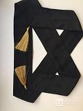 Пояс лента ткань черный кисти золото аксессуар ремень стиль мода бренд тред 44 46 48 42 женский Москва