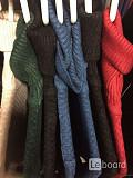 Платье новое чёрное м 46 вязаное футляр по фигуре миди шерсть разные цвета лапша чулок женское тепло Москва