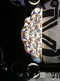 Сумка новая valentino orlandi италия черная замша стразы сваровски swarovski кристаллы хамелеон цвет Москва