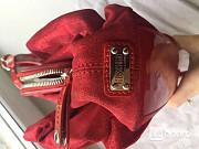 Сумка moschino италия красная замша натуральная лазерная лак кожа бант принт дизайн декор топ лакова Москва