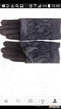 Перчатки новые 44 46 черные теплые верх съемный вязаные аксессуары начес митенки женские зимние Москва