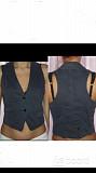 Жилет atos lombardini италия m 46 синий женский под джинсу хлопок костюм блуза рубашка блузка кофта Москва