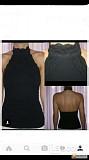 Топ morgan 46 м черный хлопок кружева стрейч спина открыта блуза блузка майка футболка рубашка лонгс Москва