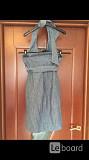 Сарафан новый kor kor италия м 46 лён голубой длина миди мини платье вечернее 44 стильное модное кра Москва