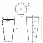Раковина напольная NS Bath NSF-45000 Москва