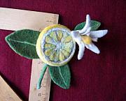 Брошь. Цветок лимона. Чебоксары