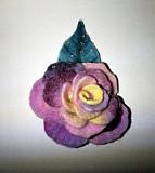 Брошь. Роза с каплями росы. Чебоксары