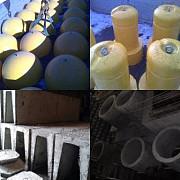 Полусфера бетонная, трубы асбестоцементные, стремянки C-1, ЖБИ Тюмень