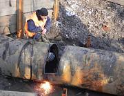 Демонтаж железных труб Рамонь и снос дымовой трубы в Рамони Воронежской области Рамонь